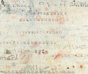 Marlies Beth: Aus der Serie Tagebücher , Mischtech./Leinw., 100x120 cm