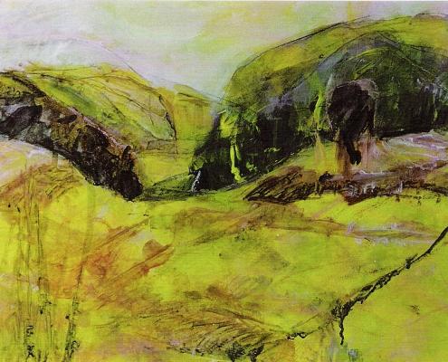 Gelbe Landschaft Farchach