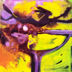 Burlesque 2021 Acryl,Tusche auf Leinwand 50 x 50 cm