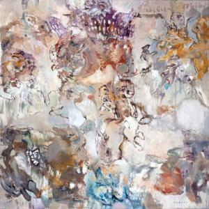 Paradise I 2011 Öl auf Leinwand 140 x 140 cm
